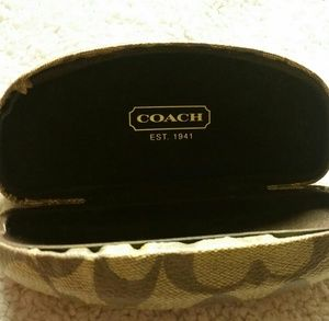 Coach hard shell glasses case glasses not included